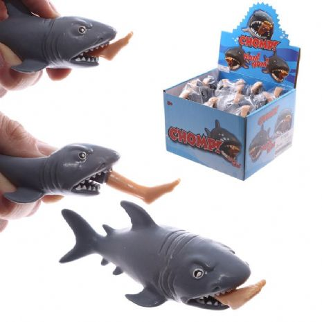 Funny Novelty Shark and Leg Pop Stress Relief Squeezy Toy